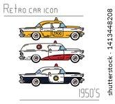 color vector icon set american...   Shutterstock .eps vector #1413448208