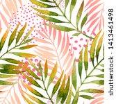 botanical summer seamless... | Shutterstock . vector #1413461498