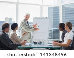 businessman in front of a... | Shutterstock . vector #141348496