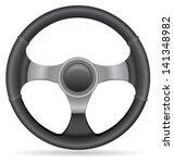 car steering wheel vector... | Shutterstock .eps vector #141348982