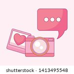 set of camera photographic with ...   Shutterstock .eps vector #1413495548