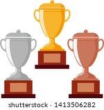 Trophy Cup  Award  Vector Icon...
