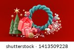christmas composition....   Shutterstock . vector #1413509228