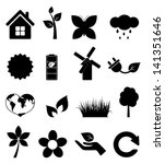 set of ecology icons | Shutterstock .eps vector #141351646