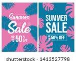 summer sale background layout... | Shutterstock .eps vector #1413527798