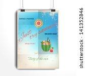 vector poster. the paper hangs... | Shutterstock .eps vector #141352846