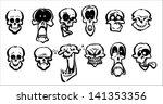 skull smileys | Shutterstock .eps vector #141353356