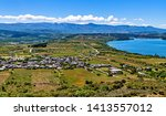 high angle view of the spanish... | Shutterstock . vector #1413557012