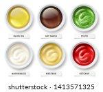 sauces set. virgin olive oil ...   Shutterstock .eps vector #1413571325
