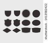 vector of vintage badges set | Shutterstock .eps vector #1413582422