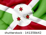 burundi waving flag | Shutterstock . vector #141358642