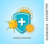 immune system concept. medical... | Shutterstock .eps vector #1413587705