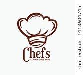 chef hat food restaurant vector ...   Shutterstock .eps vector #1413604745
