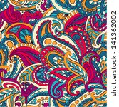 Vector floral paisley seamless pattern