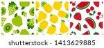 Fruit Sketch Seamless Pattern...