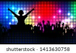 club life dj on the dance floor ... | Shutterstock .eps vector #1413630758