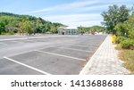 arrow symbol sign in parking ... | Shutterstock . vector #1413688688