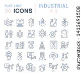 set of vector line icons of...   Shutterstock .eps vector #1413691508