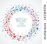 vector musical background with... | Shutterstock .eps vector #141369256