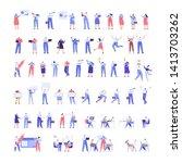 people kit   part2. crowd of... | Shutterstock .eps vector #1413703262