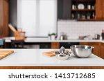 modern kitchen. industrial... | Shutterstock . vector #1413712685