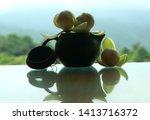 arrange flowers on the desk.   Shutterstock . vector #1413716372