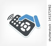 remote control label icon | Shutterstock .eps vector #141372982