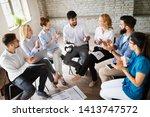 startup business team on... | Shutterstock . vector #1413747572