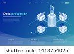 data protection vector...   Shutterstock .eps vector #1413754025