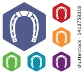 horseshoe icons vector colorful ...