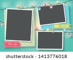 template for photo collage... | Shutterstock .eps vector #1413776018