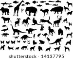 big collection of animals... | Shutterstock .eps vector #14137795