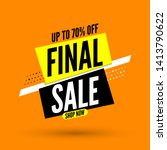 final sale banner on orange... | Shutterstock .eps vector #1413790622