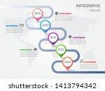 infographic timeline roadmap on ...   Shutterstock .eps vector #1413794342