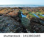 exposed seabed at low tide | Shutterstock . vector #1413802685