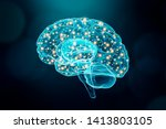 human brain. cerebral or...   Shutterstock . vector #1413803105
