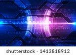 vector digital futuristic... | Shutterstock .eps vector #1413818912