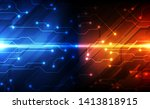 vector future digital circuit... | Shutterstock .eps vector #1413818915