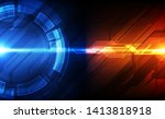 vector future digital circuit... | Shutterstock .eps vector #1413818918