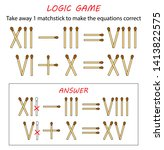 logic game for kids. puzzle... | Shutterstock .eps vector #1413822575
