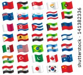 flags of the world | Shutterstock .eps vector #141382336