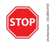 vector stop sign icon. no sign  ... | Shutterstock .eps vector #1413831935