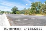 arrow symbol sign in parking ... | Shutterstock . vector #1413832832