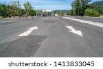 arrow symbol sign in parking ... | Shutterstock . vector #1413833045