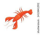 isolated object of lobster and... | Shutterstock .eps vector #1413841592