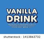 vector marketing emblem vanilla ... | Shutterstock .eps vector #1413863732