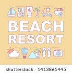 beach resort word concepts...
