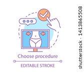 choose procedure concept icon.... | Shutterstock .eps vector #1413865508