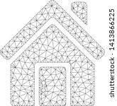 mesh closed house door... | Shutterstock .eps vector #1413866225