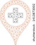 mesh clinic pointer polygonal... | Shutterstock .eps vector #1413873002